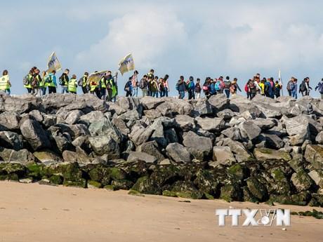 Hàn Quốc: Đổ rác ra bãi biển sạch để 'hưởng ứng' phong trào quốc tế ảnh 1