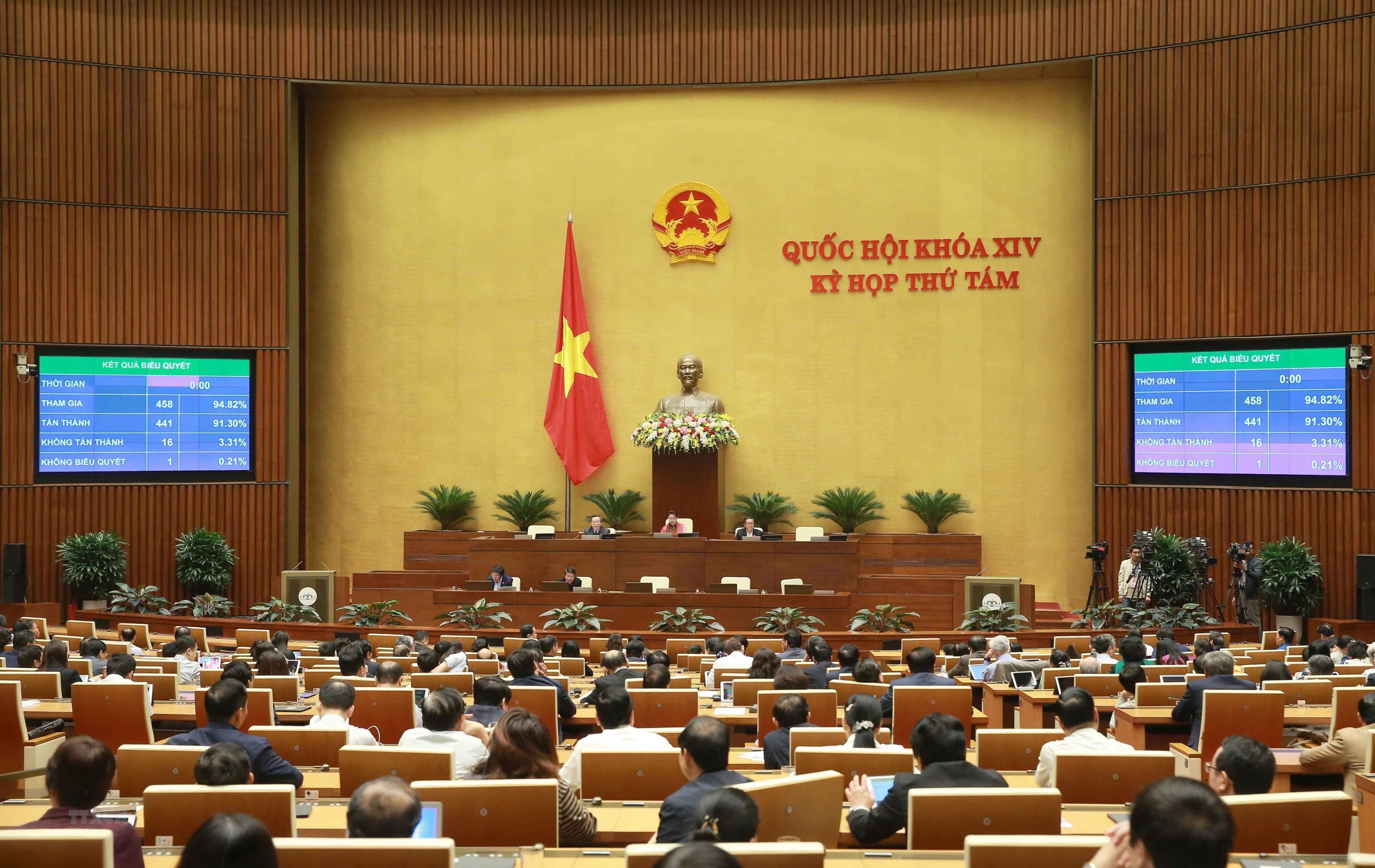 Ngày làm việc cuối cùng của Kỳ họp thứ 8, Quốc hội khóa XIV ảnh 1
