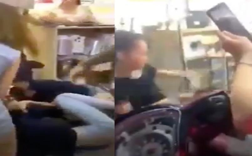 Xôn xao đoạn clip vợ chồng lao vào đánh nữ nhân viên tới tấp, đánh luôn người can ngăn ảnh 1