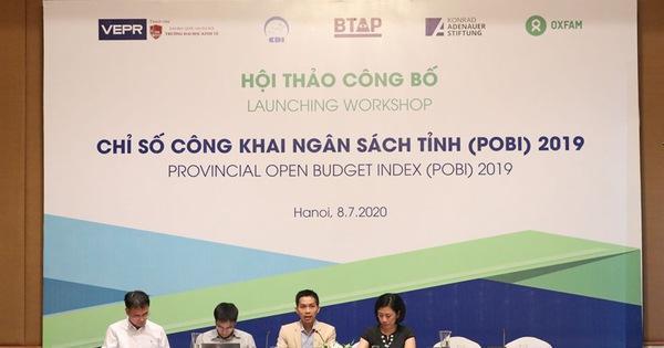Công bố chỉ số công khai ngân sách tỉnh POBI 2019: Quảng Nam đứng đầu, Hòa Bình thấp nhất ảnh 1
