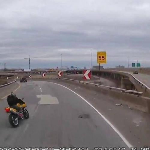 Tai nạn kinh hoàng do biker không làm chủ tốc độ khi ôm cua