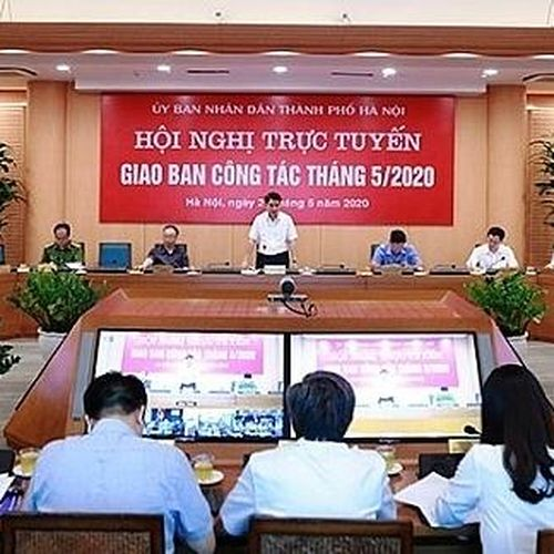UBND TP Hà Nội giao ban công tác tháng 5-2020: Đảm bảo an toàn trong trường học