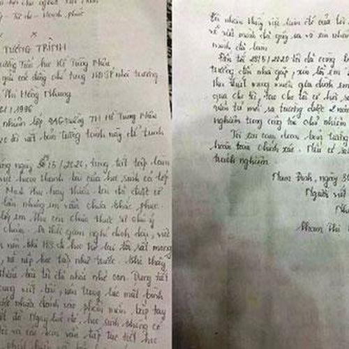 Cô đánh trò bầm tím tay vì viết chậm: 'Tôi đã sai và không bao giờ tái phạm!'