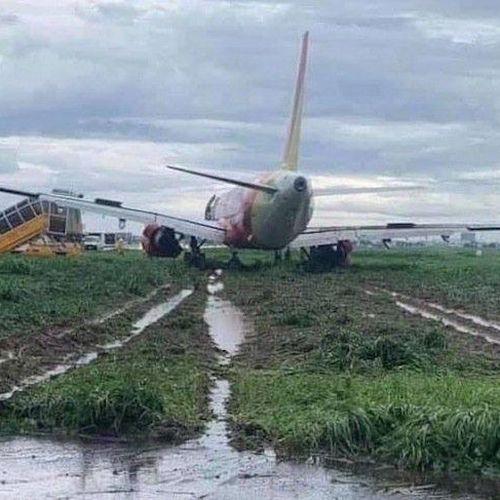 Máy bay trượt khỏi đường băng