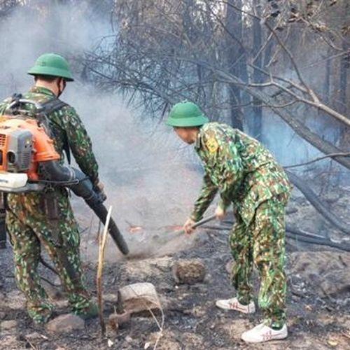 Tiếp tục duy trì lực lượng thường trực phòng chống cháy rừng