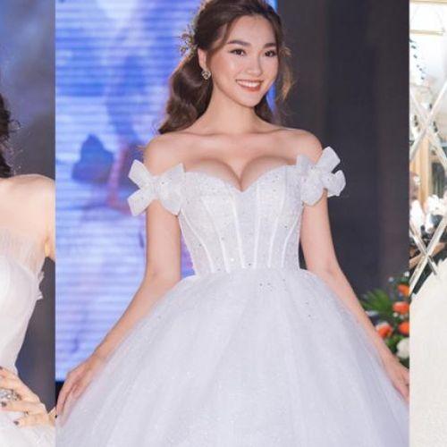 Phương Nga - Lương Thanh và Ngọc Nữ ấn tượng với váy cưới của John Kim Bridal