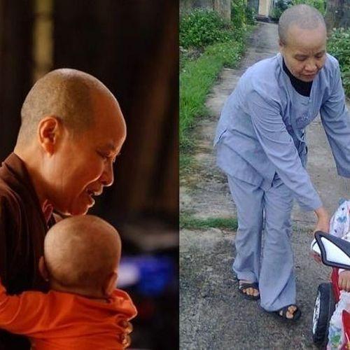 Ni sư giả điên, tìm cách đưa trẻ bụi đời về chùa cưu mang