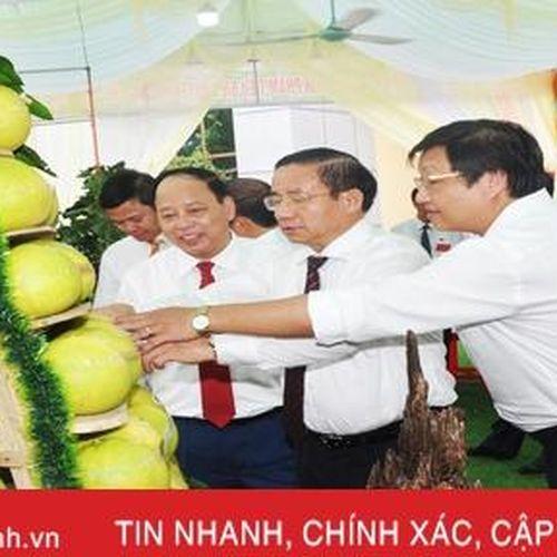 Ấn tượng gian hàng trưng bày sản phẩm nông nghiệp tiêu biểu của Hương Khê