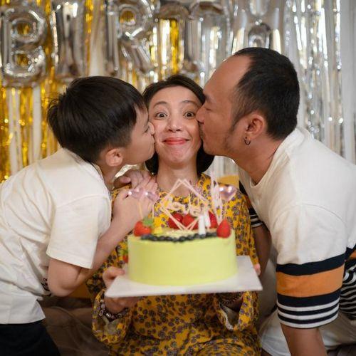 Được ông xã Tiến Luật và con trai tổ chức sinh nhật, Thu Trang tiết lộ điều ước ai nghe cũng gật gù 'cao thủ là đây'