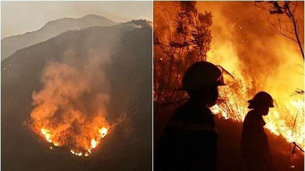 Lai Châu: Cháy rừng diện rộng, 1.000 người 'gồng mình' dập lửa
