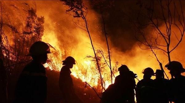 Hàng nghìn người khống chế đám cháy rừng dữ dội trong đêm ở Lai Châu
