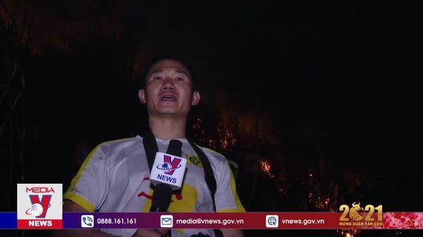 1.000 người nỗ lực chữa cháy rừng trong đêm tại Lai Châu