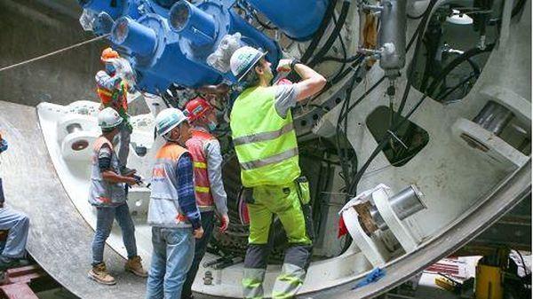 Hoàn thiện máy đào hầm thứ nhất dự án đường sắt Nhổn - ga Hà Nội