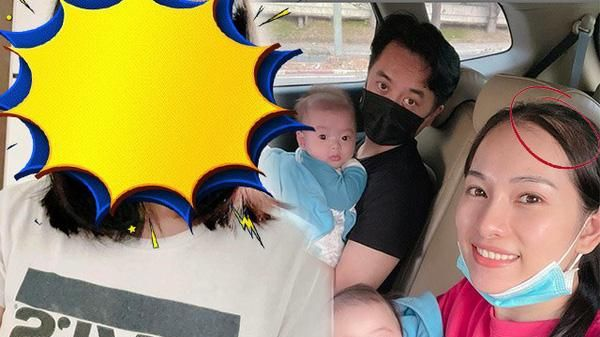 'Hồi teen' hậu sinh đôi, vợ trẻ Dương Khắc Linh đổi tóc giấu tiệt khuyết điểm
