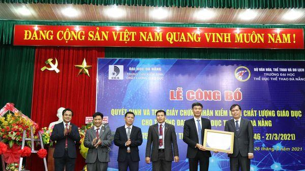 Trường ĐH Thể dục thể thao Đà Nẵng đạt kiểm định chất lượng giáo dục