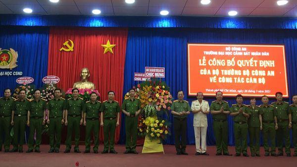 Thiếu tướng Trần Thành Hưng giữ chức hiệu trưởng trường ĐH Cảnh sát