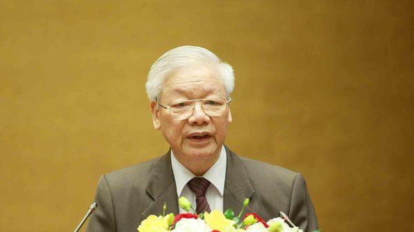 Chủ tịch nước Nguyễn Phú Trọng trình Quốc hội miễn nhiệm Thủ tướng