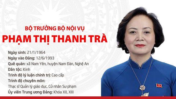 Tóm tắt quá trình công tác Bộ trưởng Bộ Nội vụ Phạm Thị Tranh Trà