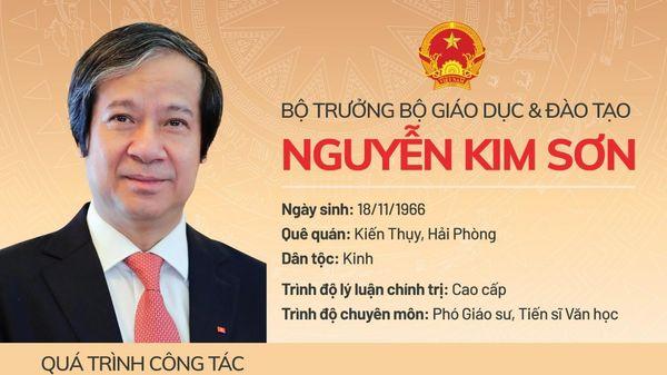 Phó Giáo sư Nguyễn Kim Sơn làm Bộ trưởng Bộ Giáo dục và Đào tạo