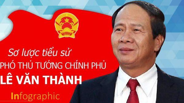 Infographic: Sơ lược tiểu sử tân Phó Thủ tướng Lê Văn Thành