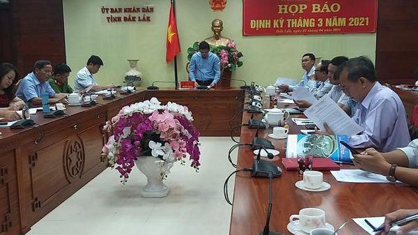 Nhiều vấn đề 'nóng' được giải đáp tại giao Ban báo chí thường kỳ của tỉnh Đắk Lắk