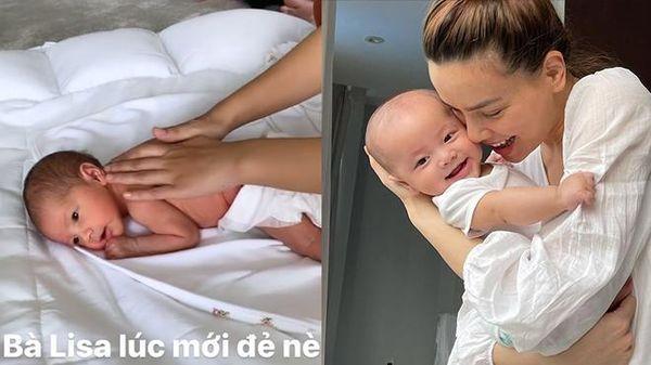 Hà Hồ khoe ảnh 'bé Ba' Lisa mới sinh đã biết điệu, dân mạng công nhận tiểu công chúa 'kiêu kỳ giống mẹ'
