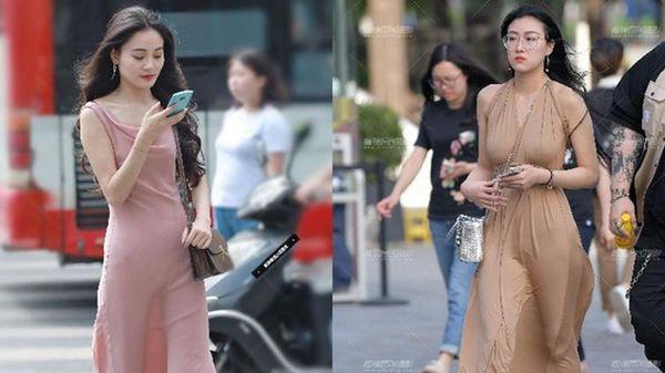 Mặc váy lụa xuống phố, gái xinh 'muối mặt' vì sự cố trang phục