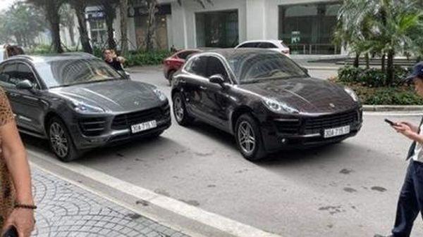 Tạm giữ 2 xe Porsche trùng biển số tại Khu đô Times City, Hà Nội