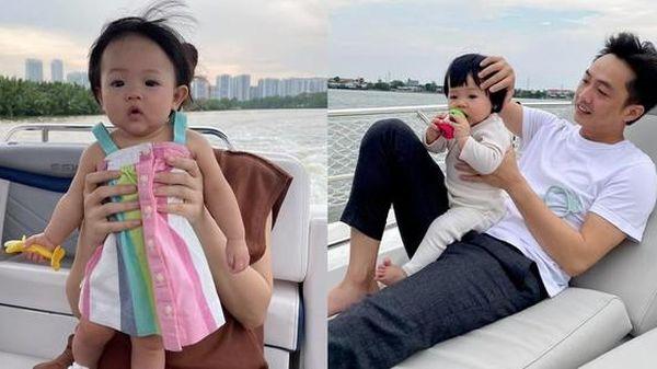 Đàm Thu Trang gọi con gái là 'Cường con', 'cà khịa' chồng mặc váy