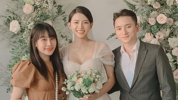 Vợ Phan Mạnh Quỳnh diện váy cưới đính 3.000 viên pha lê