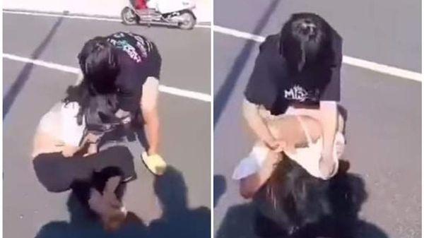 Nữ sinh lớp 8 lột áo, đánh bạn tới tấp trên cầu ở Quảng Nam