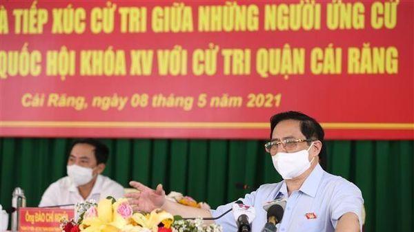 Thủ tướng Phạm Minh Chính tiếp xúc cử tri tại Cần Thơ
