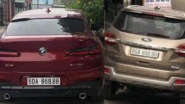 Tạm giữ ô tô gắn biển số giả 'lộc phát' siêu đẹp ở Đồng Nai