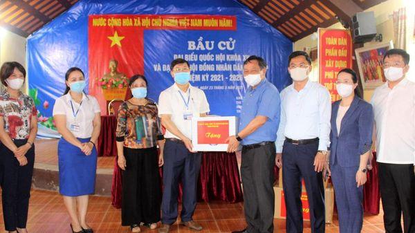 Huyện Phú Xuyên tập trung bảo đảm phòng, chống dịch Covid-19 cho ngày bầu cử