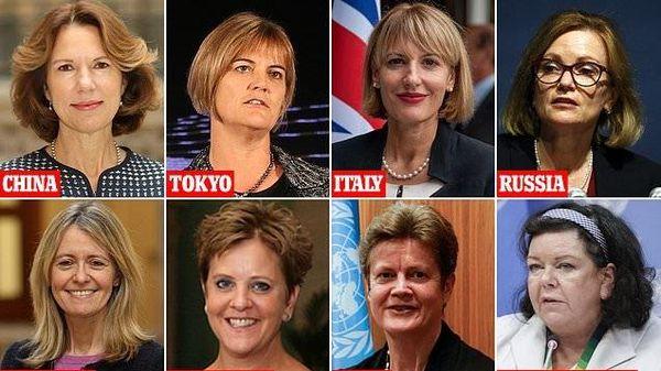 Nữ Đại sứ chiếm lĩnh sân khấu ngoại giao Anh - xu thế thức thời hay cuộc đọ sức muộn màng?
