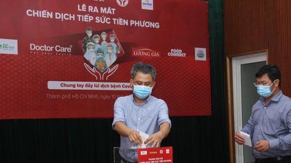 Ra mắt chiến dịch 'Tiếp sức tiền phương' cho tuyến đầu chống dịch