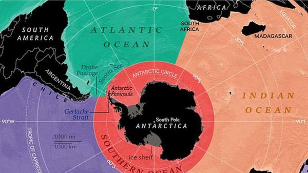 Đại dương thứ 5 được chính thức công nhận trên Trái đất