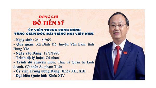 Đồng chí Đỗ Tiến Sỹ giữ chức Tổng Giám đốc Đài Tiếng nói Việt Nam