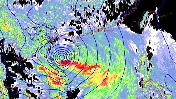 Ảnh hưởng áp thấp nhiệt đới, Hà Tĩnh xuất hiện mưa lớn