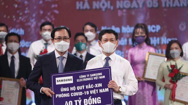 Samsung Việt Nam ủng hộ 56 tỷ đồng phòng, chống dịch COVID-19