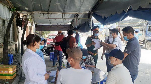 Kiểm soát người lao động đến từ vùng dịch đang làm việc tại Đồng Nai
