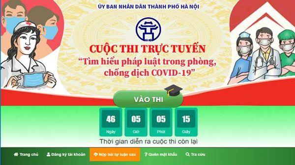 Cuộc thi trực tuyến 'Tìm hiểu pháp luật trong phòng, chống dịch Covid-19' bắt đầu từ ngày 20-6