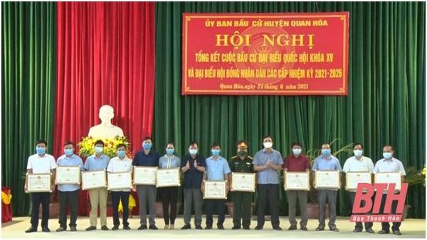 Huyện Quan Hóa tổng kết công tác bầu cử ĐBQH khóa XV và đại biểu HĐND các cấp nhiệm kỳ 2021-2026