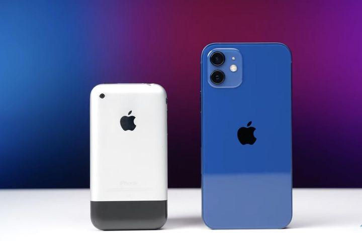 IPhone 12 so tốc độ với iPhone đời đầu