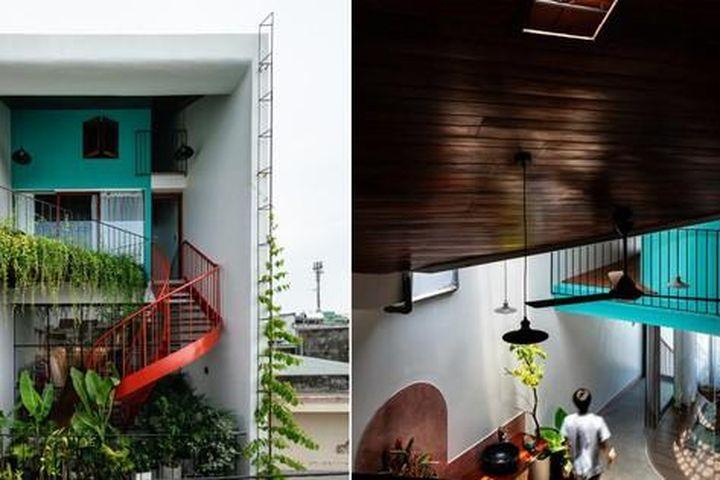 Mê mẩn với nhà ống đảo cầu thang ra trước để tăng công năng trong ngõ hẹp Đà Nẵng - Báo Tiền Phong