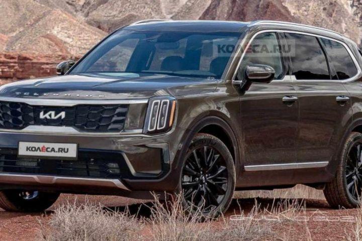 Kia Telluride 2023 – đối thủ nặng ký của Ford Explorer lộ diện