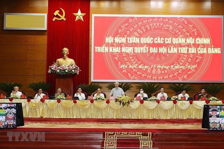 Tổng Bí thư Nguyễn Phú Trọng dự hội nghị các cơ quan nội chính triển khai Nghị quyết Đại hội XIII của Đảng - Báo Kinh Tế Đô Thị