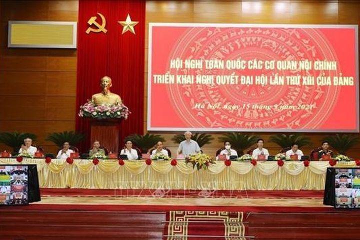 Tổng Bí thư Nguyễn Phú Trọng dự Hội nghị toàn quốc các cơ quan nội chính triển khai Nghị quyết Đại hội XIII - Truyền Hình Thông Tấn