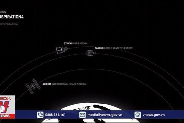 SpaceX đưa 4 phi hành gia không chuyên lên vũ trụ - Truyền Hình Thông Tấn