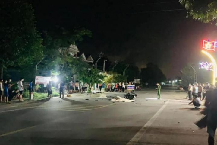 2 xe máy đâm nhau trong đêm, 3 thanh niên tử vong - An toàn giao thông